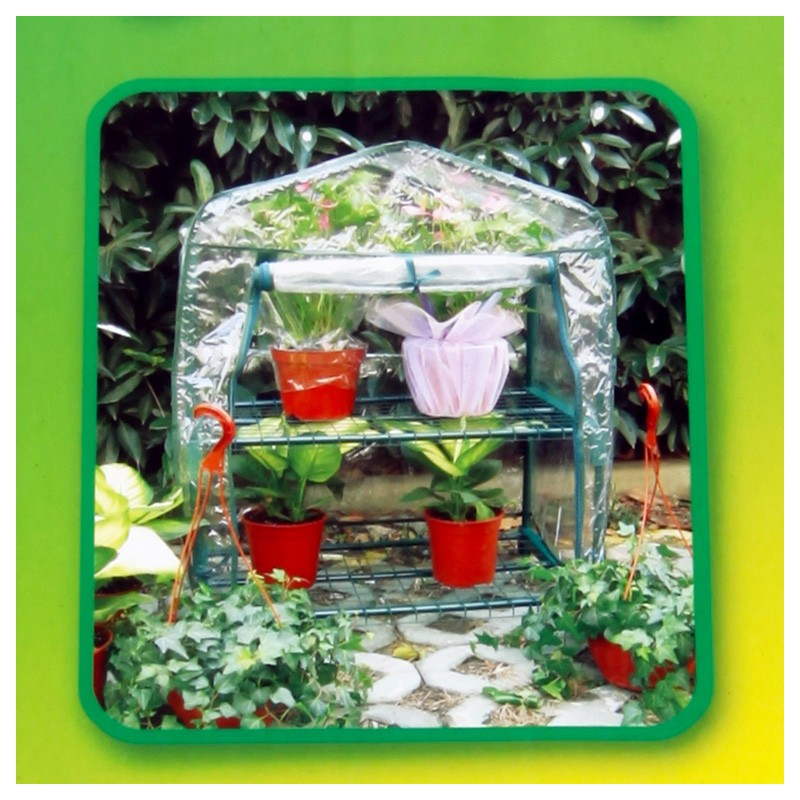 Mini serre de jardin 2 étagères