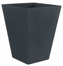 Pot de jardin carré gris anthracite