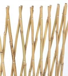 Trellis en bambou naturel verni